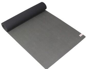 Sol Living Gray Natural Rubber Yoga Mat, Sturdy, Extra Thick Premium Non-Slip Yoga Mat - Meditation, Pilates 24x72 Inches FREE SHIPPING!