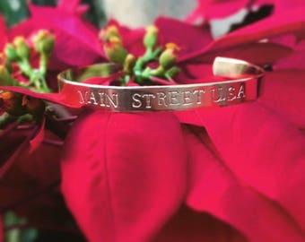 Mainstreet usa disneyland inspired cuff bracelet