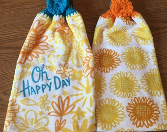 Crocheted Hanging Kitchen Towel Set