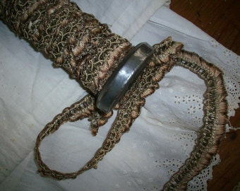 French antique silk ruched ruffle with metal