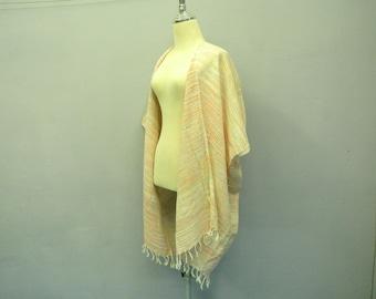 Pastel shrug,Fringe kimono,Woven bolero,Boho shrug,woven poncho,cotton woven shrug,woven cape,Boho Clothing,cape,kimono shrug,oversize shrug