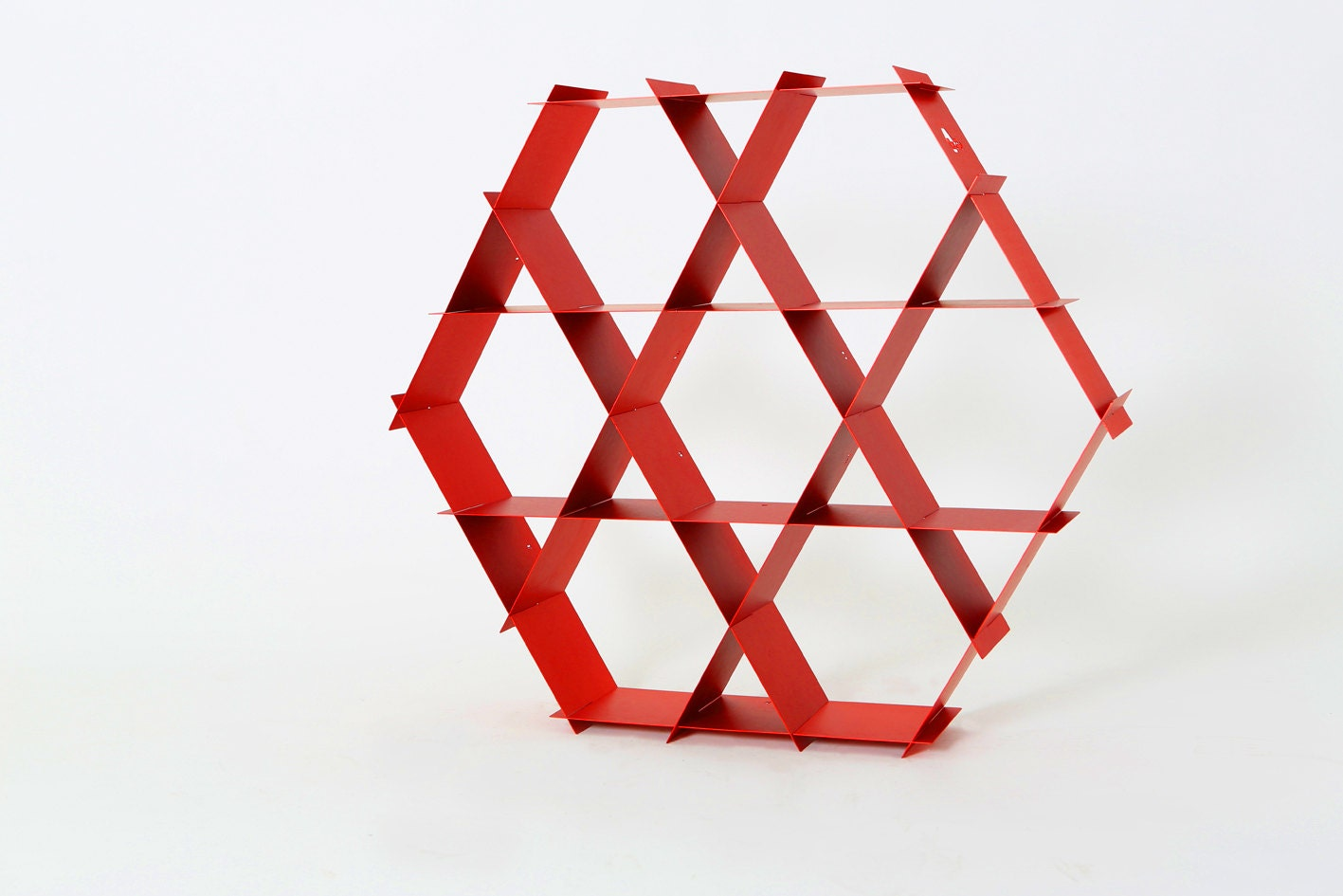 Modern Furniture Shelving Red Shelf Industrial Bookshelf