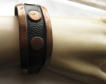 Handsome 60's Copper Cuff Bracelet