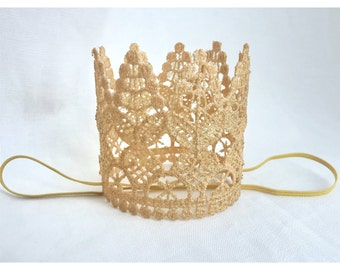 BELLA CROWN, princess photo crown, lace crown, lace birthday crown, birthday crown, birthday princess, birthday princess crown, gold crown