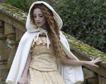 Princess.Soft , enveloping cloak with large hood for a real princess