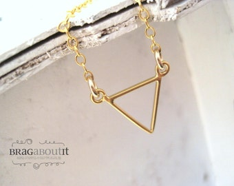 Tiny Triangle . Gold Layering Necklace . Layering Necklace . Brag About It