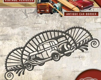 Die cut, Die, vintage vehicles, bordurevoiture traction, Amy design, Scrapbooking, vintage collection
