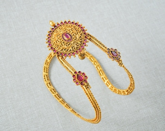 Armband matt gold Indian temple nagas vanki armlet armband | South Indian telugu  bridal Jewellery wedding bahubali jewelry accessory