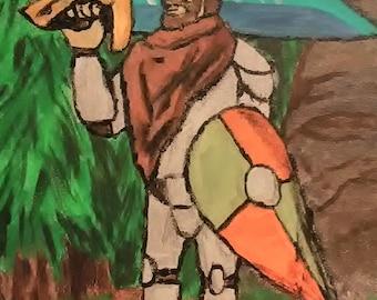 Wandering Knight | Acryllic piece