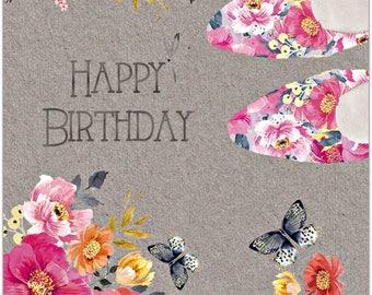 Greeting card - Happy Birthday - handmade 21cm x 15cm