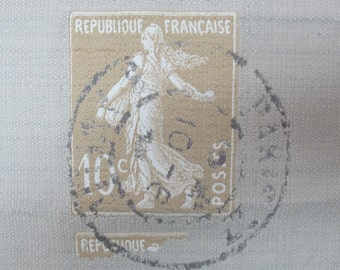 Republique Francaise 22x27 pillow front barley/clay