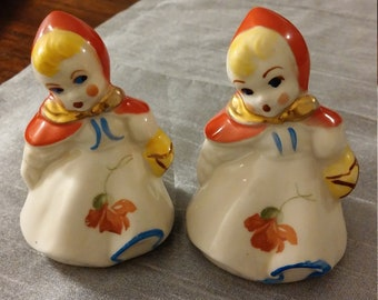 Hull Pottery Little Red Riding Hood Salt & Pepper Shakers/Set