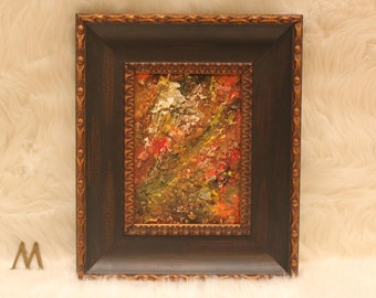 Coming Autumn - Fall (ing) Leaves Collection by MauZoleum, Original abstract painting, Contemporary Art, Hand-painted wall Art