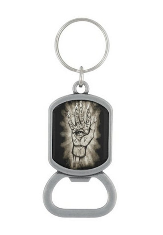 Hand of Glory occult bottle opener key chain