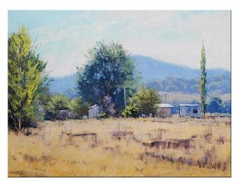 Farm Painting  by  Graham Gercken Original Oil Landscape by Graham Gercken