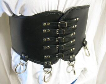 Wide Gothic Metal Waist Cincher