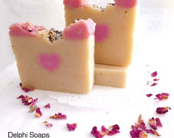 Butterflies heart Soap- Pineapple Jasmine soap-shea butter spa soap-Fruity floral exotic soap- cold processed natural soap- girlfriend gift