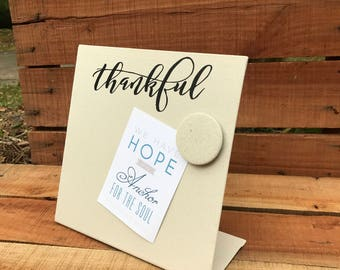 Shower Hostess Gift - Thankful Magnetic Board - Thankful Signage - Picture Frame - Farmhouse - Message Board - Memory Board - Memo Board