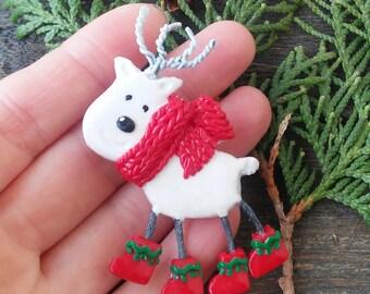 Reindeer Pin Christmas brooch Lovely Rudolph Santas deer Cute gift Christmas jewelry Christmas accessories Kawaii Brooch