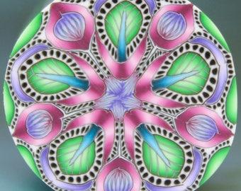 Medium Polymer Clay Kaleidoscope Cane (22cc)
