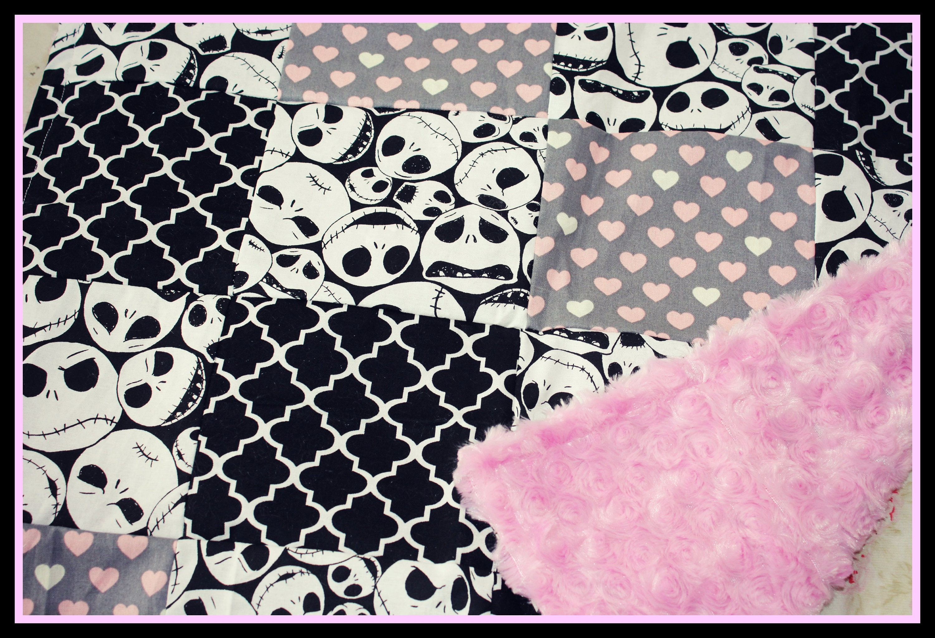 Nightmare Before Christmas Valentine Baby Quilt