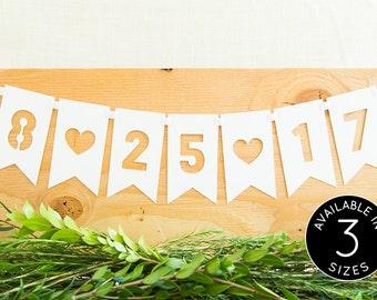 Wedding Date Sign, Custom Wedding Signs, Wedding Date Banner, Custom Wedding Banner, Wedding Decorations, Bridal Shower Decorations
