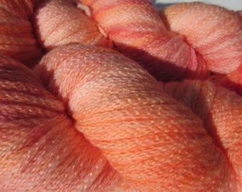 Cantaloupe Chainette Bulky Superwash Merino Hand-dyed Yarn, 273 yards/100grams