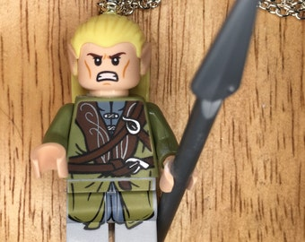 Legolas Mini-Fig Necklace with spear