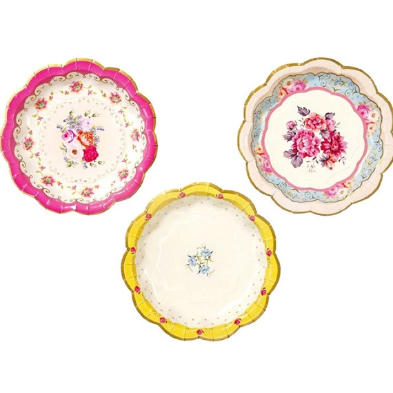 Bridal Tea Party Plates Small Floral Party Plate Paper