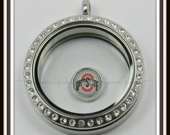 Ohio State Floating Charm for Glass locket / Floating Locket / Memory Locket