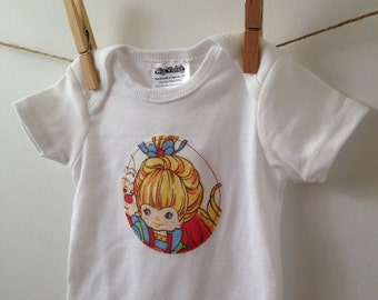 Rainbow Brite Bodysuit - 80s Baby Gift - Vintage Rainbow Bright - Available in NB, 3m, 6m, 9m and 12m