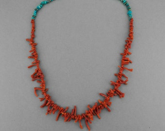 Coral-Turquoise Chain Navajo