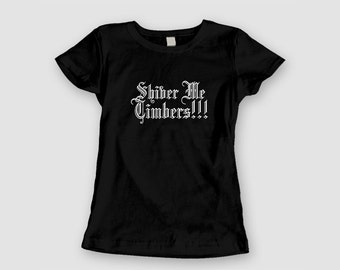 Ladies Baby Doll Tee - Shiver Me Timbers