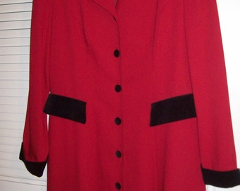 Vintage Donna Ricco Coat Dress Size 12.  PERFECT Career Fall Dress !