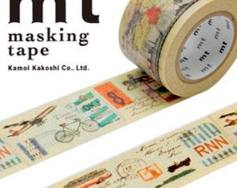 MT Washi Masking Deco Tape EX Travel Vehicles