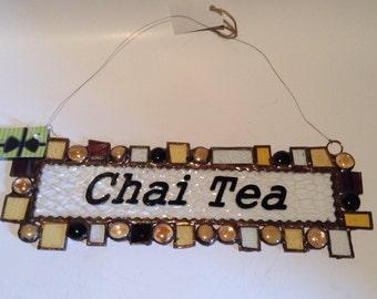 Inspirational Patch Work Pieces- Earth Tones  - Green Art- Chai Tea
