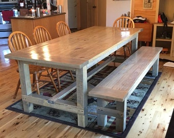 Farmhouse Table with matching bench