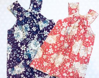 Sister Dresses - Sibling Dresses - Girls Floral Dress - Matching Not Matching Dresses - Sister Dresses for Easter - Easter Dresses for Girls