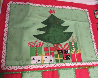 Happy Holidays Advent Calendar    -Fabric-Priced Per 1/2 Yd-    Free Shipping