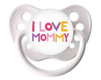 Reborn Magnetic Pacifier I Love Mommy Girl or Boy. Use drop down menu to CHOOSE Magnet Kit or Putty Kit. Doll Not Included.