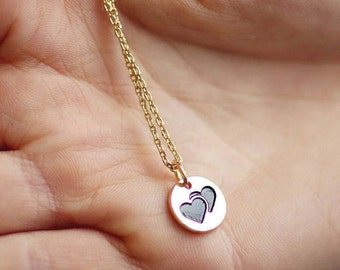 Gift for her | Romantic Gift Wife | Birthday Gift | Tiny Heart Necklace | Sister Gift | Friendship Gift | Gift for Mom | Heart Necklace |G