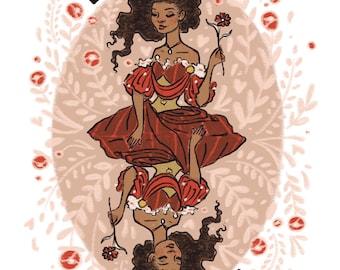 Queen of Hearts 5x7 inch print