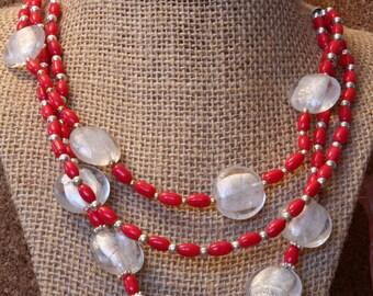 Fire & Ice Multi Strand Necklace