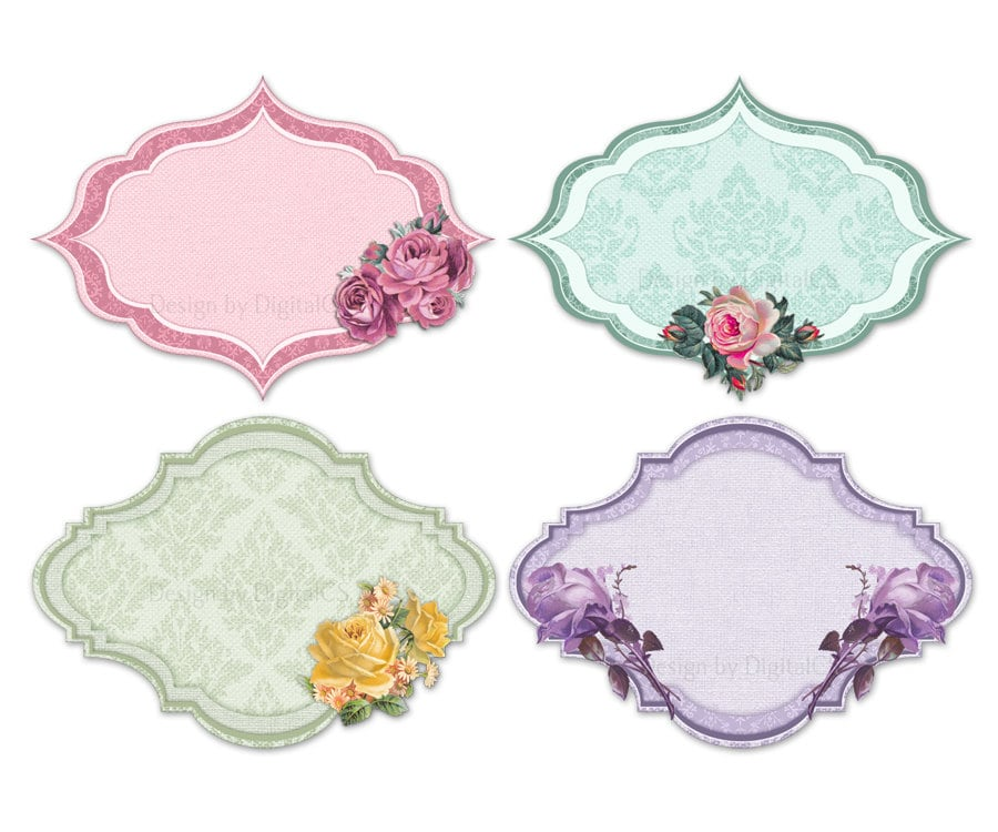 Shabby chic clipart frames clipart borders shabby chic tags