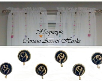 Magnetic Curtain Accent Hooks... Set of 6
