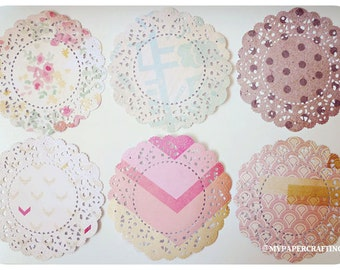 Parisian Lace Doily The Pier Crate paper for Scrap booking or card making / pack