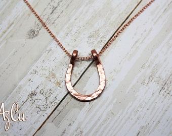 Hammered Horseshoe Necklace