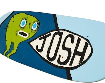 Skateboard Sign - Personalized 18 inch Wood Skateboard Wall Art - Skateboard Decor