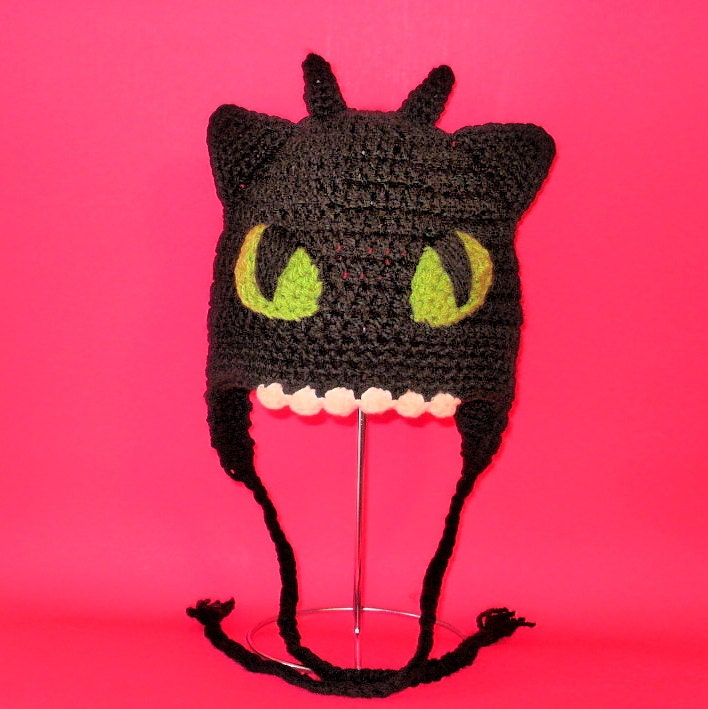 Crochet Pattern Pdf Toothless Hat Beanie And Earflap All