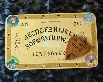 Vintage 1940's Hasko Mystic Board with Planchette and Original Box ∙ Talking Board ∙ Spirit Board ∙ Ouija Board ∙ Divination